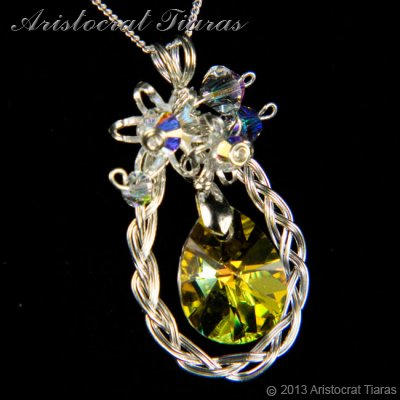 Countess Alyssa 925 silver Swarovski crystal necklace picture 2