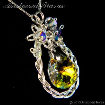 Countess Alyssa 925 silver Swarovski crystal necklace picture 3