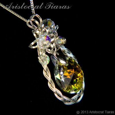 Countess Alyssa 925 silver Swarovski crystal necklace picture 4