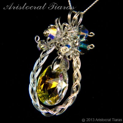 Countess Alyssa 925 silver Swarovski crystal necklace picture 5