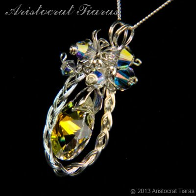 Countess Alyssa 925 silver Swarovski crystal necklace picture 6