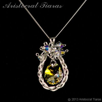 Countess Alyssa 925 silver Swarovski crystal necklace picture 7