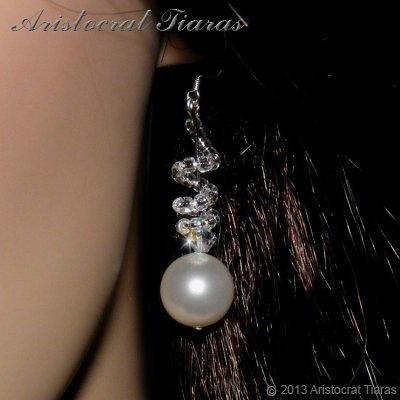 Countess Estelle Swarvoski pearls bridal earrings picture 2