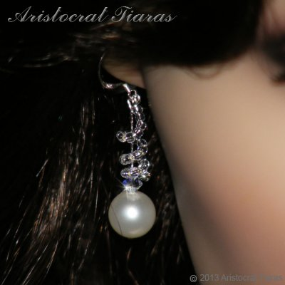 Countess Estelle Swarvoski pearls bridal earrings picture 3