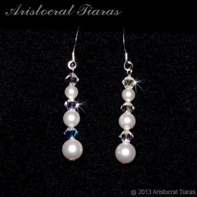 Countess Lydia Swarovski 925 earrings picture 1