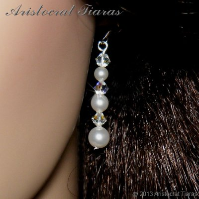 Countess Lydia Swarovski 925 earrings picture 2