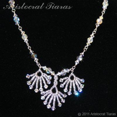 Lady Victoria pheonix handmade Swarovski necklace - click for supersize image
