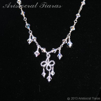 Duchess Rowena handmade Swarovski bridal necklace picture 2