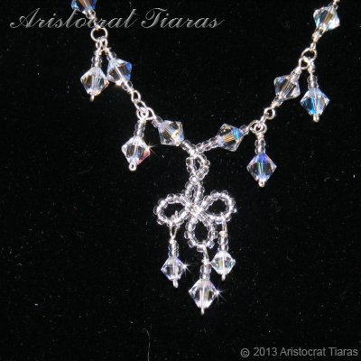 Duchess Rowena handmade Swarovski bridal necklace picture 3
