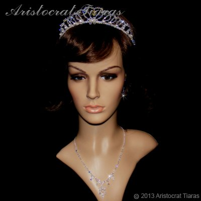 Duchess Rowena handmade Swarovski bridal necklace picture 5