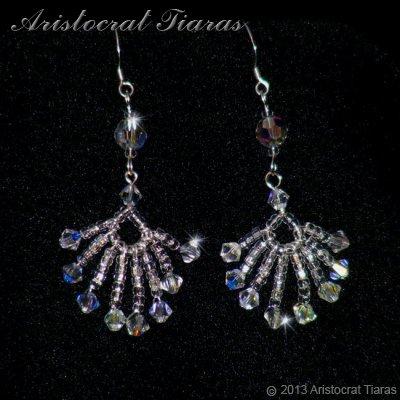 Duchess Soraya phoenix handmade Swarovski earrings - click for supersize image