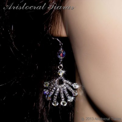 Duchess Soraya phoenix handmade Swarovski earrings picture 3