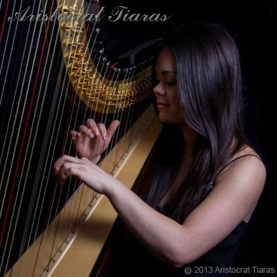 Harpist Glenda Allaway - click for supersize image