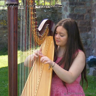 Harpist Hannah Allaway - click for supersize image