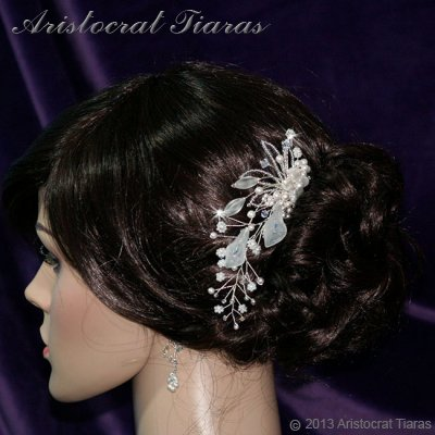 Lady Amelia jade lily Swarovski hair comb picture 3