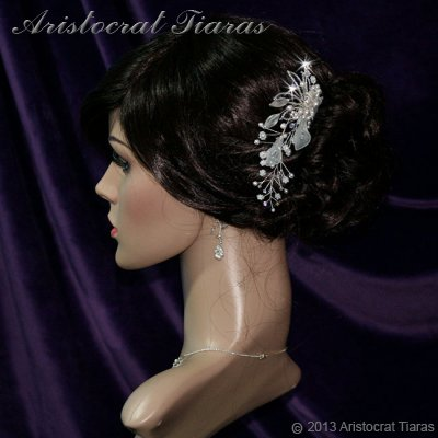 Lady Amelia jade lily Swarovski hair comb picture 6