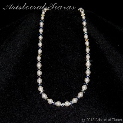 Lady Aurelia handmade Swarovski pearls necklace picture 1