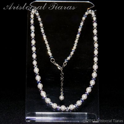 Lady Aurelia handmade Swarovski pearls necklace picture 2