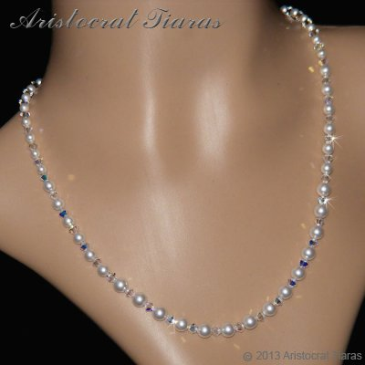Lady Aurelia handmade Swarovski pearls necklace picture 4