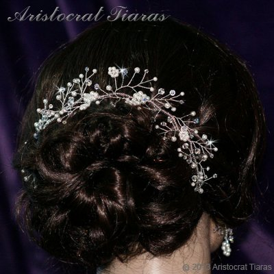 Lady Bella handmade Swarovski pearl flower hair vine picture 3