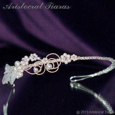 Lady Callia handmade lily Swarovski bridal headband picture 2