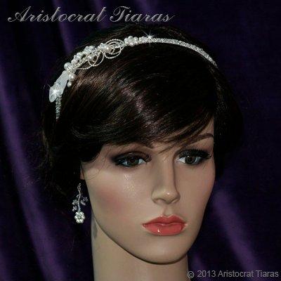 Lady Callia handmade lily Swarovski bridal headband picture 3