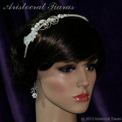 Lady Callia handmade lily Swarovski bridal headband picture 4