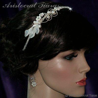 Lady Callia handmade lily Swarovski bridal headband picture 5