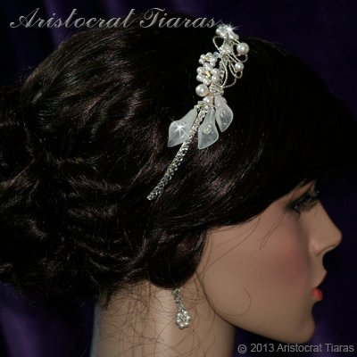 Lady Callia handmade lily Swarovski bridal headband picture 6
