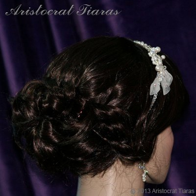 Lady Callia handmade lily Swarovski bridal headband picture 7
