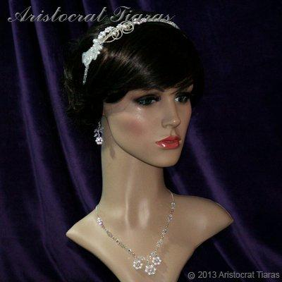 Lady Callia handmade lily Swarovski bridal headband picture 8