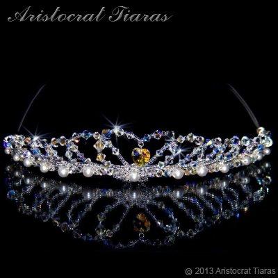 Lady Caroline heart handmade Swarovsk bridal tiara picture 1