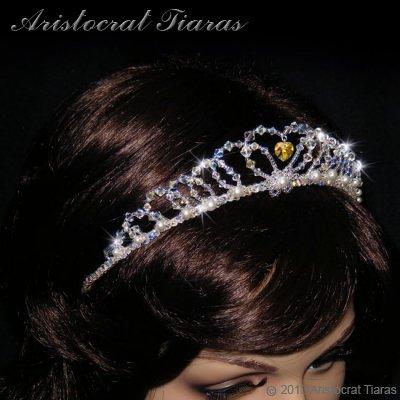 Lady Caroline heart handmade Swarovsk bridal tiara picture 10