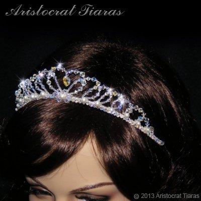 Lady Caroline heart handmade Swarovsk bridal tiara picture 12