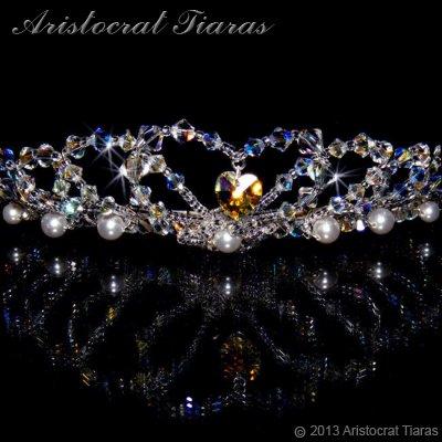 Lady Caroline heart handmade Swarovsk bridal tiara picture 2