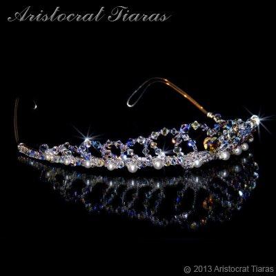 Lady Caroline heart handmade Swarovsk bridal tiara picture 3