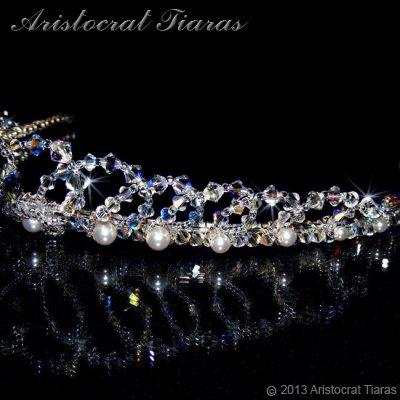 Lady Caroline heart handmade Swarovsk bridal tiara picture 6