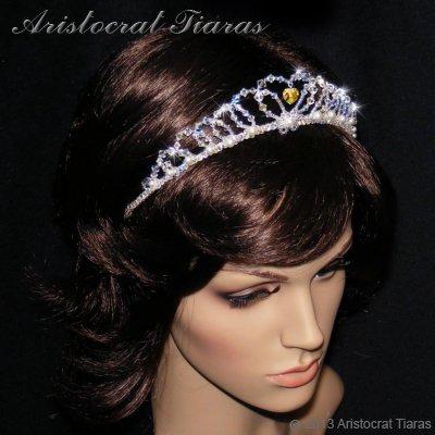 Lady Caroline heart handmade Swarovsk bridal tiara picture 7