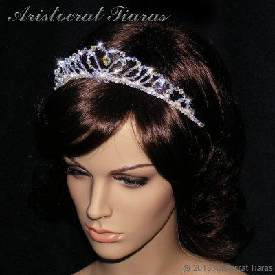 Lady Caroline heart handmade Swarovsk bridal tiara picture 9