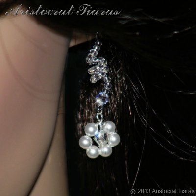 Lady Cassandra flowers handmade bridal earrings picture 2