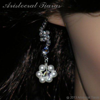Lady Cassandra flowers handmade bridal earrings picture 3