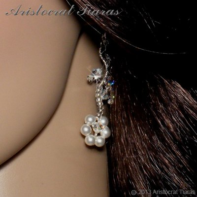 Lady Clara flowers handmade bridal earrings picture 2