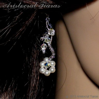 Lady Clara flowers handmade bridal earrings picture 3