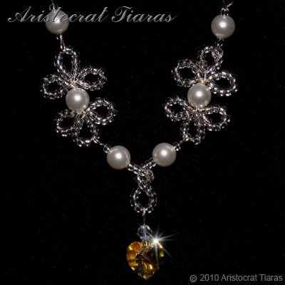 Duchess Elizabeth heart handmade Swarovski necklace picture 2
