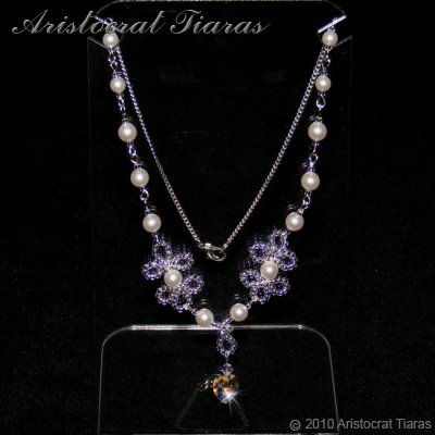 Duchess Elizabeth heart handmade Swarovski necklace picture 3