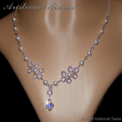 Duchess Elizabeth heart handmade Swarovski necklace picture 5