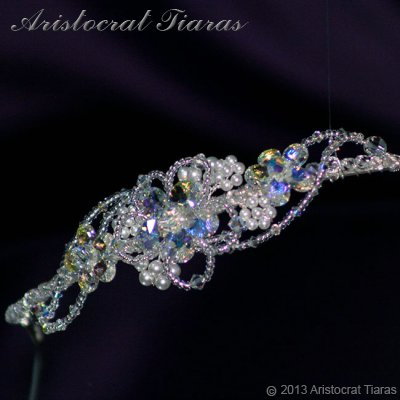 Lady Helena handmade Swarovski crystal flower bridal headband picture 4