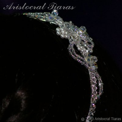 Lady Helena handmade Swarovski crystal flower bridal headband picture 9