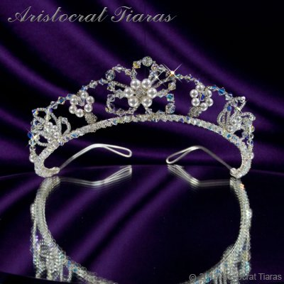 Lady Isabella blossom handmade bridal tiara - click for supersize image