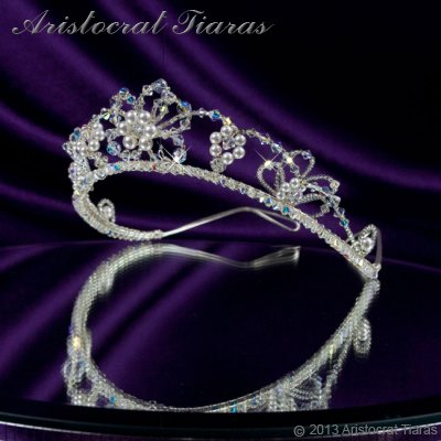 Lady Isabella blossom handmade bridal tiara picture 4